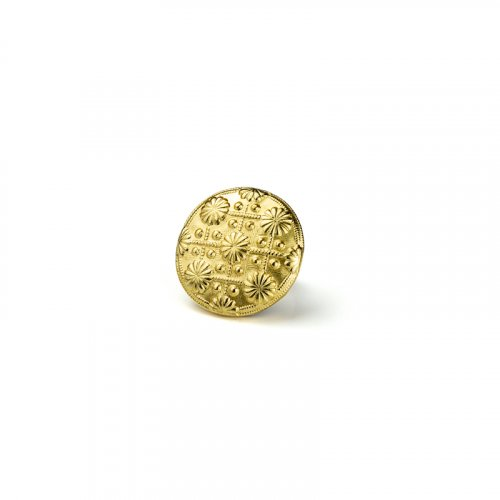 fashion button 050 - Size: 14 mm eyelet, Color: gold