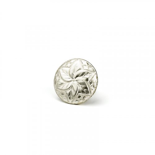 fashion button 197 - Size: 14 mm eyelet, Color: silver