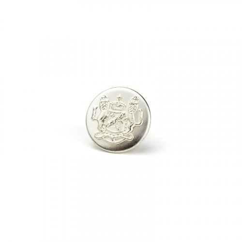 fashion button 336 - Size: 14 mm eyelet, Color: silver