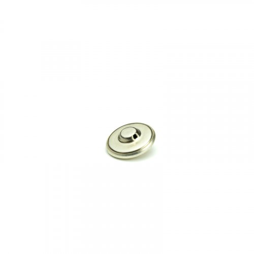 fashion button 602 - Size: 23 mm eyelet, Color: silver
