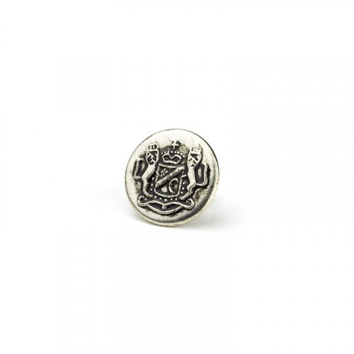fashion button 336 - Size: 14 mm eyelet, Color: antique silver
