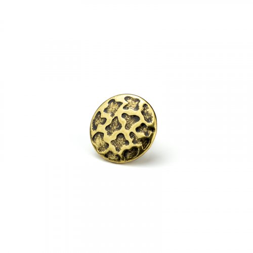 fashion button 040 - Size: 18 mm tunnel, Color: old gold