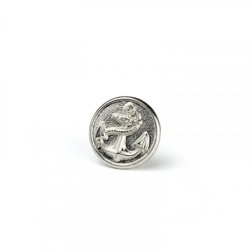 fashion button 104 - Size: 18 mm eyelet, Color: silver
