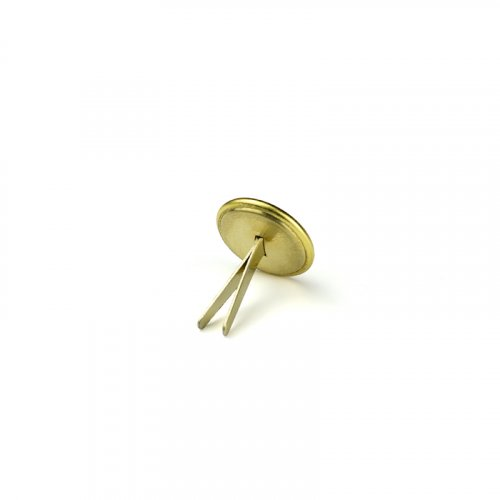 metal button fire-fighter 012 - Size: 15 mm split pin, Color: gold