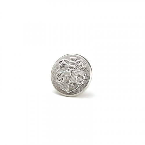fashion button 173 - Size: 14 mm eyelet, Color: silver