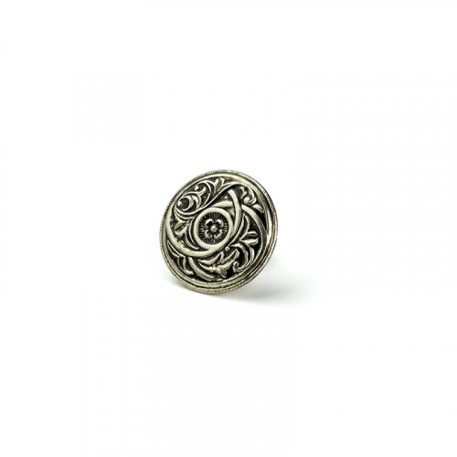 fashion button 075 - Size: 18 mm tunnel, Color: antique silver