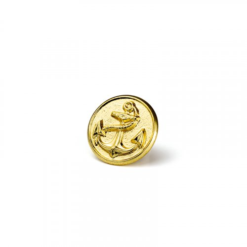 fashion button 104 - Size: 18 mm eyelet, Color: gold
