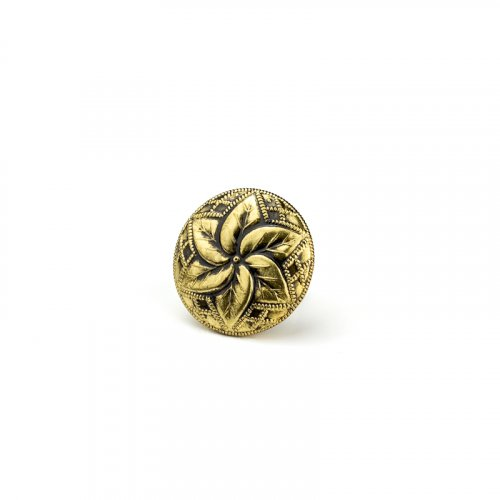 fashion button 197 - Size: 18 mm eyelet, Color: old gold