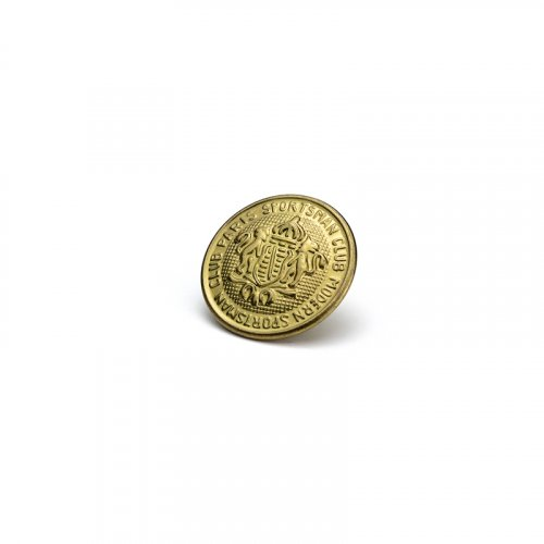 fashion button 338 - Size: 18 mm eyelet, Color: old gold