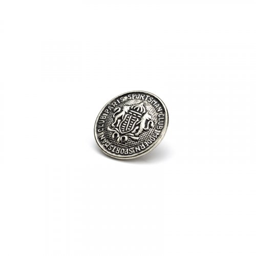 fashion button 338 - Size: 14 mm eyelet, Color: antique silver