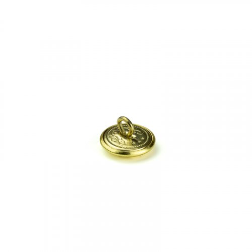 fashion button 601 - Size: 14 mm eyelet, Color: gold