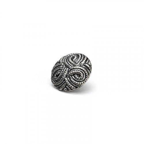 fashion button 205 - Size: 18 mm eyelet, Color: antique silver
