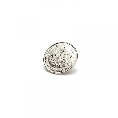 fashion button 338 - Size: 18 mm eyelet, Color: silver