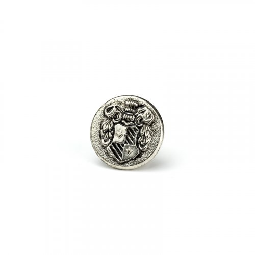 fashion button 173 - Size: 18 mm eyelet, Color: antique silver