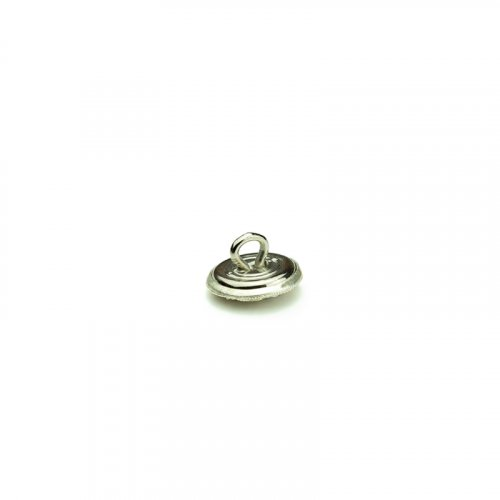 fashion button 104 - Size: 14 mm eyelet, Color: silver