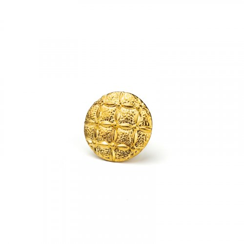 fashion button 254 - Size: 23 mm eyelet, Color: gold